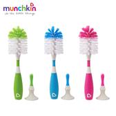 munchkin滿趣健-二合一奶瓶奶嘴刷(吸盤)-3色