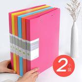 文件夾資料冊多層學生用卷子收納分類袋發票夾票據檔案收納糖果色a4文件夾插頁加厚