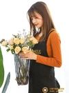 現代簡約加厚玻璃花瓶客廳鮮花插花裝飾復古擺件【小獅子】