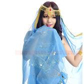 肚皮舞頭紗 經典印度舞鑲寶石紗巾頭巾頭紗