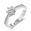 時尚情侶鍍銀戒指女韓國清新荷花開口戒指時尚甜美花朵《小師妹》ps494