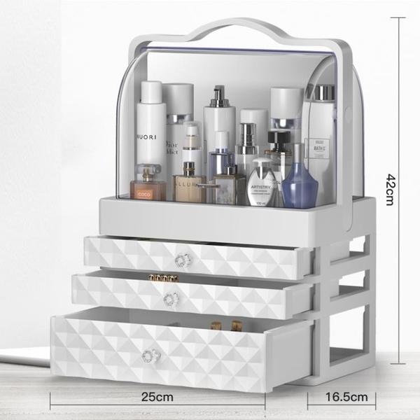 盒防塵壓克力桌面化妝盒大梳妝台護膚品口紅置物架 【七七小鋪】