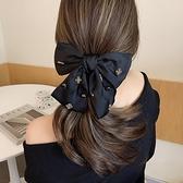 黑色帶鑚超大蝴蝶結發夾女後腦勺夾子發卡網紅2021年新款頭飾大號 韓美e站