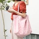 學生小雛菊托特包 簡約帆布女包包 韓版小清新大包包 潮流大容量女士托特包 時尚女生單肩包