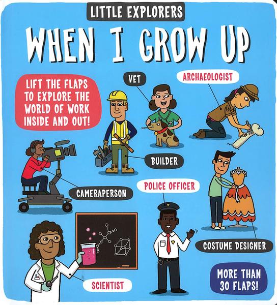 【麥克書店】LITTLE EXPLORERS WHEN I GROW UP/ 英文繪本硬頁書《主題:科學環境社會文化》