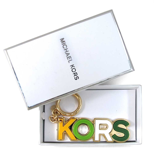MICHAEL KORS Charms Resin品牌字母鎖圈吊飾(綠色、含禮盒)-32T8GXCL5P
