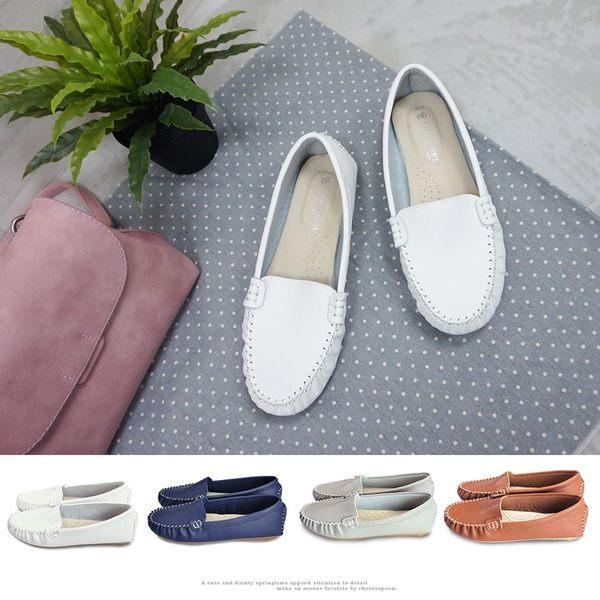 【富發牌】質感素色樂福鞋-全黑/白/藍/灰/棕  R30