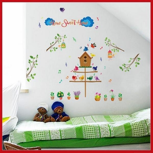 創意壁貼--童趣家園 SK7081【AF01013-1057】i-Style居家生活