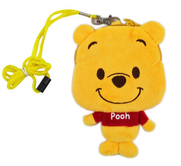 【卡漫城】 維尼熊 絨毛 票卡包 ㊣版 立體 雙拉鍊 零錢包 識別證套 悠遊卡套 小熊維尼 Pooh Winnie