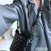 鍊條包包包女包新款2020時尚菱格黑色流浪包復古簡約百搭鍊條單肩斜背包 萊俐亞