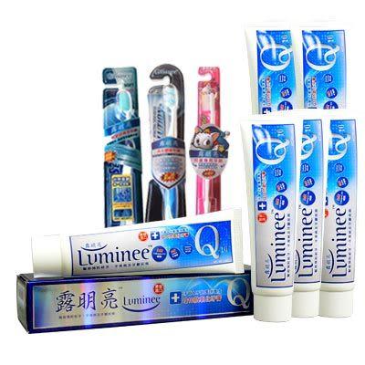 Luminee 露明亮 Q10抗氧化牙膏(120g)6入組 加贈牙刷3支↘ 短效品大促銷