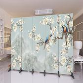 屏風歐式屏風隔斷牆現代時尚簡約簡易客廳辦公室行動實木折疊折屏wy