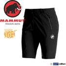 【MAMMUT Runbold Shorts 女短褲《石墨灰》】1020-06893-0121/長毛象/透氣快乾/彈性耐磨短褲/抗UV
