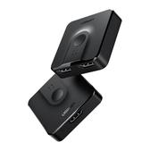 綠聯hdmi分配器一分二雙向切換音視頻轉換兩二進一出高清畫面分頻器4K一拖分二  魔法鞋櫃