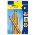 【德國 LYRA】3711120  三角原木彩色鉛筆17.5cm  12色/盒