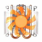 店長推薦 超頻三刀刃S89一體機CPU散熱器小機箱迷你機箱雙熱管靜音CPU風扇
