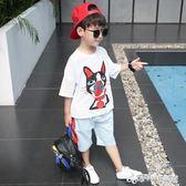 童裝男童夏裝套裝新款男孩夏季兒童中大童短袖帥氣兩件套潮衣  Cocoa