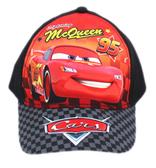 【卡漫城】 CARS 帽子 黑 格子 ㊣版 汽車總動員 閃電麥坤 Mcqueen 兒童 遮陽帽 網球帽 棒球帽 童帽