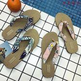 原宿風人字拖女夏時尚室外穿平底涼拖鞋