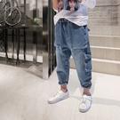 衣童趣(•‿•)韓版男童 百搭大口袋工裝褲 牛仔長褲 秋冬新款 男童街頭風長褲