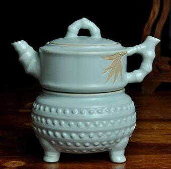 汝窯過濾陶瓷功夫茶壺