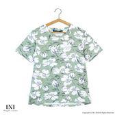【INI】好感版型、好感版型設計花漾上衣.綠色
