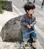 手編毛衣男童針織開衫春秋款新款外套童裝秋裝上衣潮 海角七號