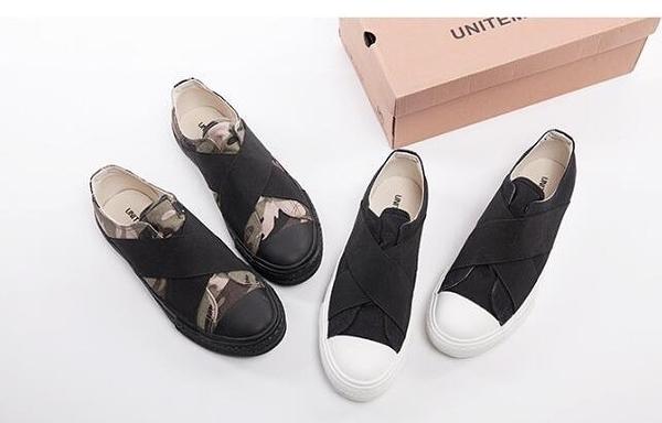 FINDSENSE MD 韓國  時尚休閒 潮 男 交叉設計 一腳蹬 懶人鞋 流