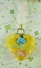 【震撼精品百貨】San-X動物家族_兔子~手機吊飾-心型-黃色
