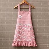 韓版時尚圍裙廚房純棉成人可愛無袖防水防油做飯圍腰定制女士 卡布奇诺