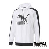 Puma 白色 棉質 厚連帽 長袖T恤 男款 NO.H3149【新竹皇家 53017902】