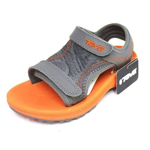 TEVA 兒童護腳背涼鞋 避震 耐磨 抗菌 防臭 TV100638GORN (橘/灰)[陽光樂活]