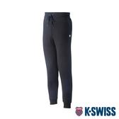 K-SWISS Shield Logo Sweat pants運動長褲-女-黑