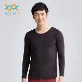 【WIWI】MIT溫灸刷毛圓領發熱衣(經典黑 男S-3XL)