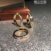 日韓版時尚滿鑽鍍18K玫瑰金鈦鋼戒指女食指環精品戒子飾品不褪色 青山市集