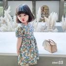 女童夏裝洋裝2020年新款韓版洋氣兒童短袖碎花寶寶公主裙潮裙子 HX5565【Sweet家居】
