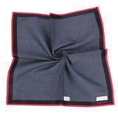 Calvin Klein 千鳥格紋純綿帕巾(藍紅色)989091-266