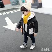 男童羽絨服棉衣2020新款兒童冬裝羽絨棉服洋氣加絨加厚棉襖冬季男孩 PA12469『紅袖伊人』