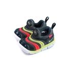NIKE DYNAMO FREE 運動鞋 毛毛蟲鞋 黑/紅/黃 小童 童鞋 343938-024 no020