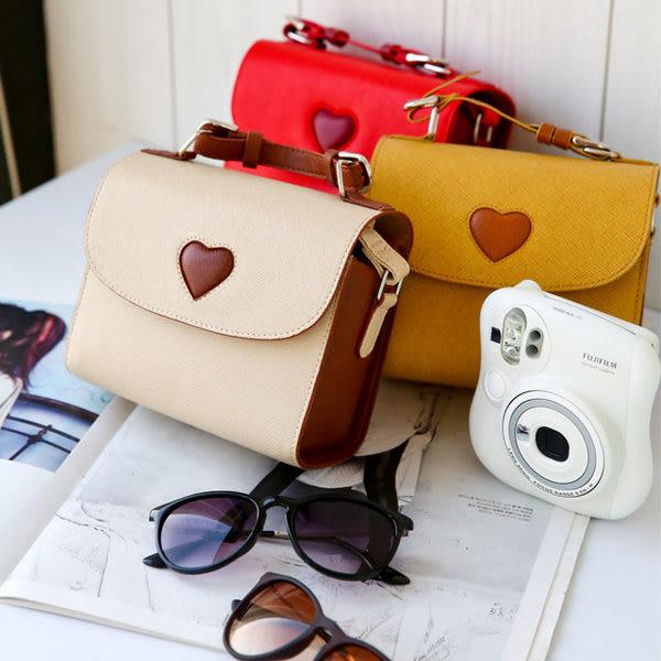 愛心裝飾拍立得專用皮革包 類單眼相機包 mini 25 50S GF3 8 90 C3 5N GX1 GF2 mini 8 mini 90 GF5 EX1