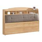 【森可家居】奈德5尺書架型床頭箱(不含床底) 8CM670-6 雙人置物床頭箱