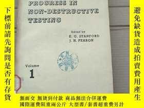 二手書博民逛書店progress罕見in non-destructive testing volume 1(P2014)Y17