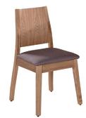 【 IS空間美學】葛麗絲胡桃深灰色布餐椅