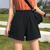 超火cec運動短褲女2020夏高腰休閒韓版寬鬆寬管熱褲黑色蹦迪褲子 滿天星