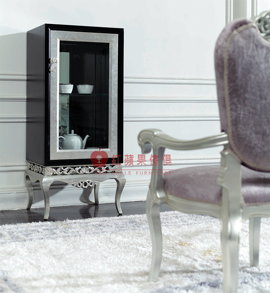 [紅蘋果傢俱] XGL-027 雅致系列 新古典 歐式 法式 單門酒櫃 裝飾櫃 收納櫃 造型櫃 工廠直營