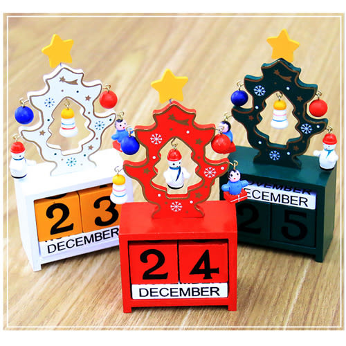 聖誕創意禮品木製日曆日期裝飾 H7Y024 AIB小舖