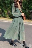 連身裙 2020春季新款法式梗桔氣質女神范連身裙森系初戀仙女碎花雪紡長裙 爾碩數位