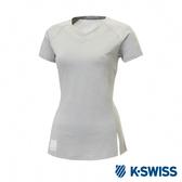 K-SWISS T-Shirt 韓版短袖T恤-女-灰