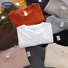 美式270g重磅t恤男短袖純棉白色不透厚實阿美咔嘰夏季體恤打底衫【快速出貨】