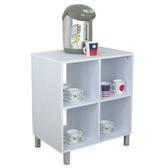 【頂堅】深40公分-四方格[固定腳]置物櫃/電器櫃/餐廚櫃-二色可選素雅白色